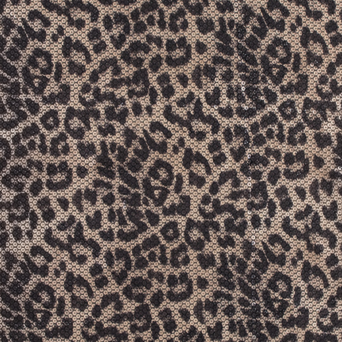 circle sequins with a leopard top foil and a black knit backing 318383 11