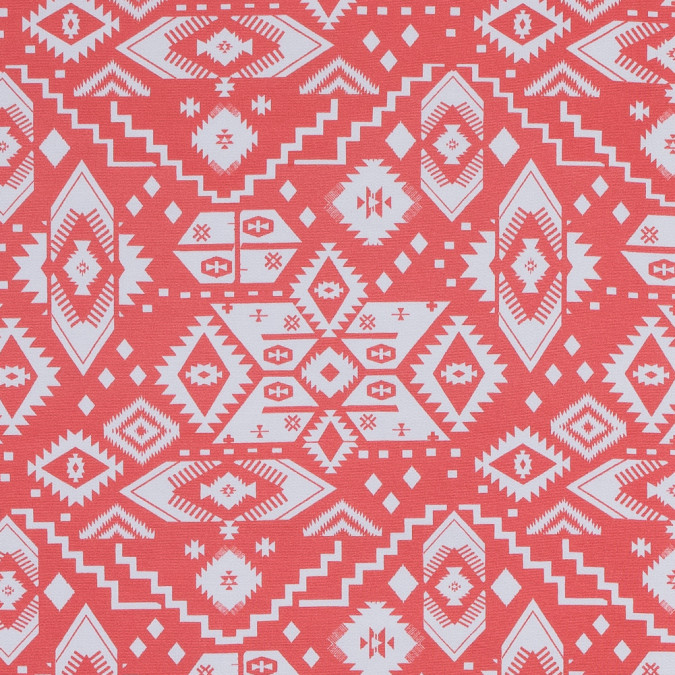 coral and white tribal printed jersey 316453 11