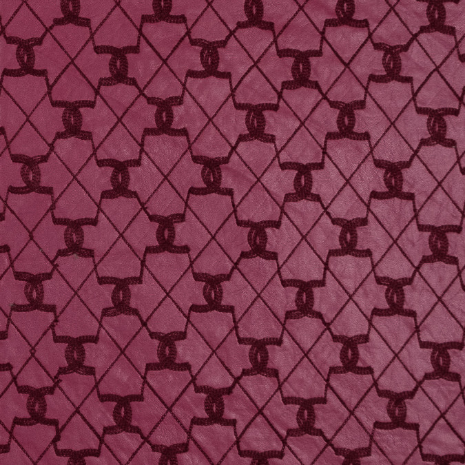 cranberry geometric embroidered stretch faux leather 318422 11