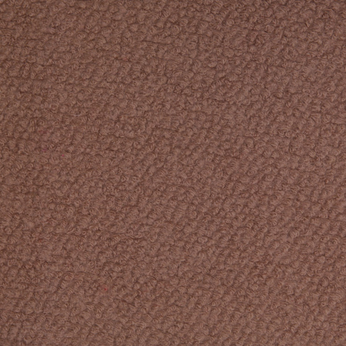 dark beige wool and polyester boucle 110560 11