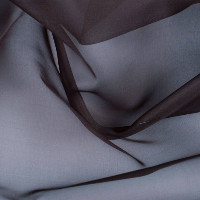 dark brown silk organza pv3000 190 11