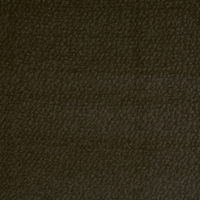 dark green wool and polyester boucle 110562 11