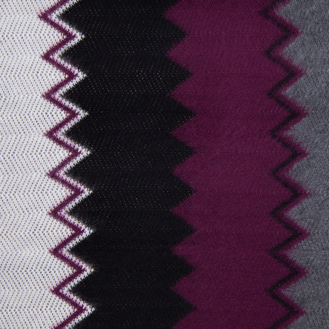 deep grape and gray big zig zags soft sweater knit 303890 11