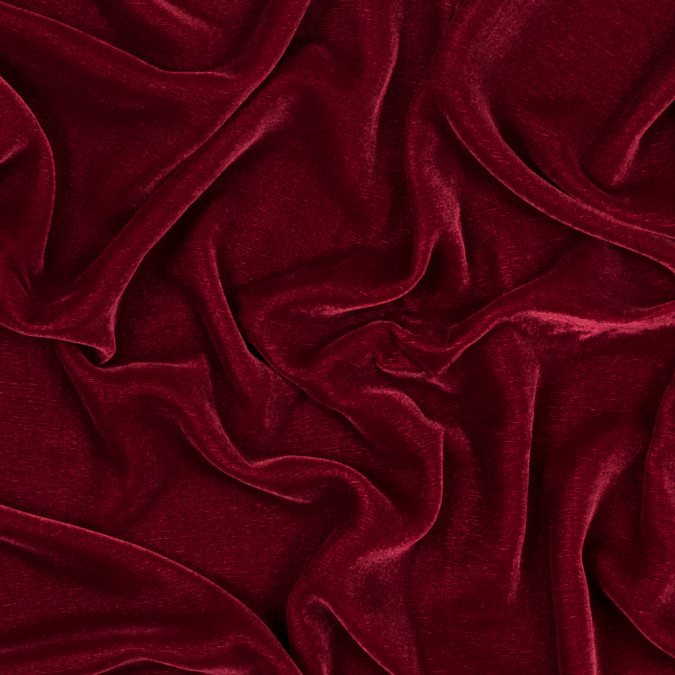 deep red silk and rayon velvet 319292 11