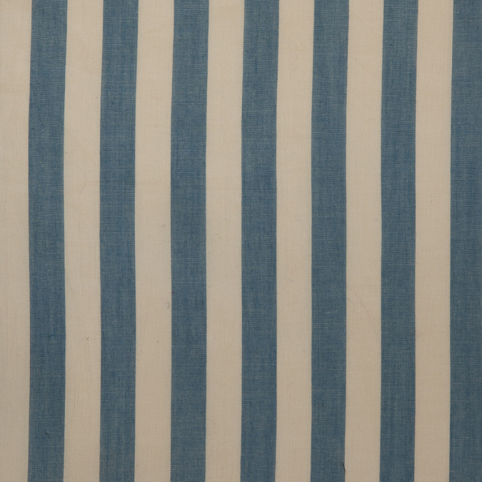 denim beige striped cotton voile 309851 11