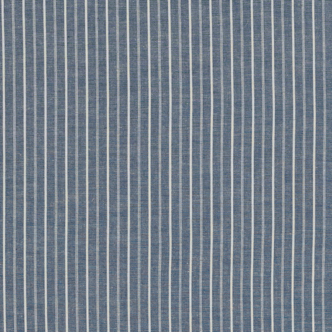 denim blue and white striped cotton chambray 318845 11