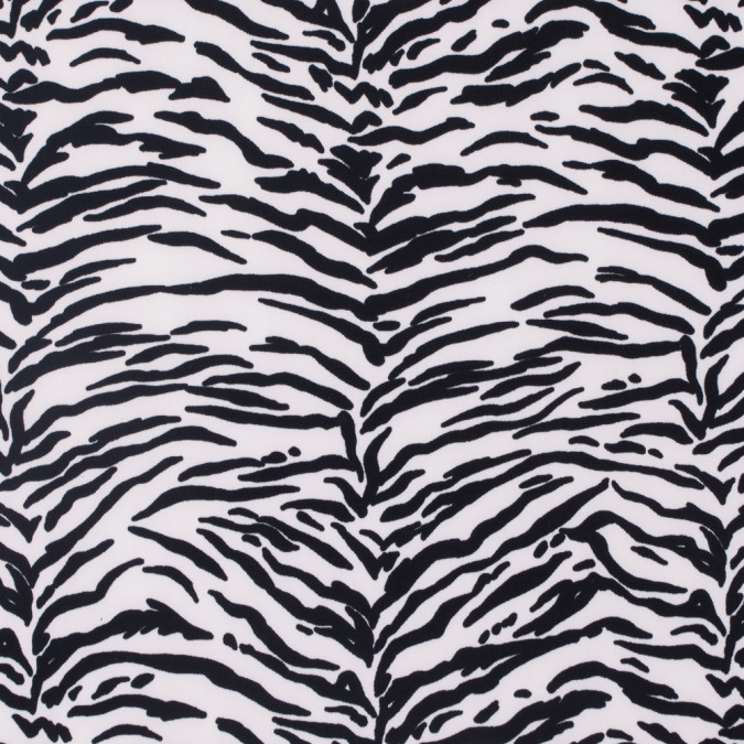 dew and caviar black zebra striped polyester crepe 311728 11
