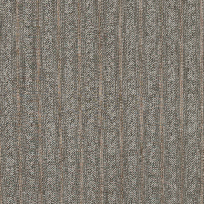 dusky green striped medium weight linen woven 317598 11