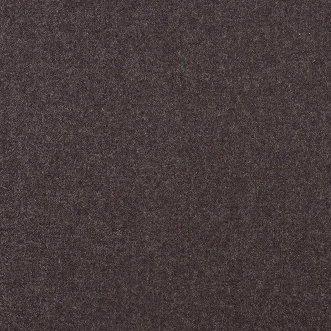 dusty brown black 2 faced wool double cloth 308087 11