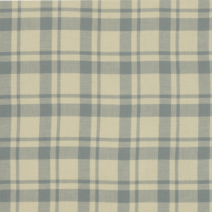 elephant gray and mellow yellow plaid japanese cotton twill 318879 11
