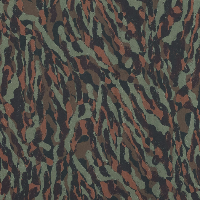 european green and brown camouflage cotton poplin 119282 11