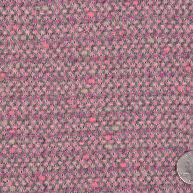 famous nyc designer baby pink gray wool polyester tweed fw11977 11