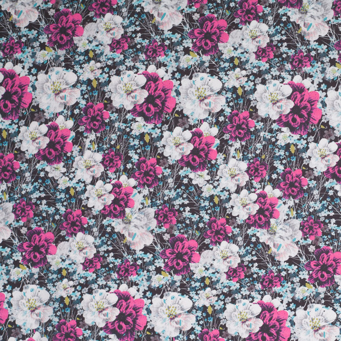 field of flowers digitally printed polyester charmeuse 307409 11