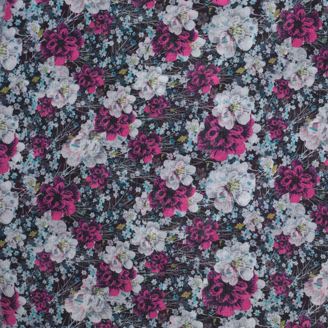 field of flowers digitally printed polyester chiffon 307386 11