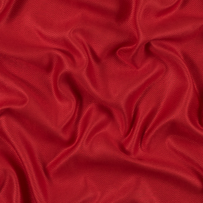 fiery red viscose batiste with a woven off kilter chevron design 314098 11