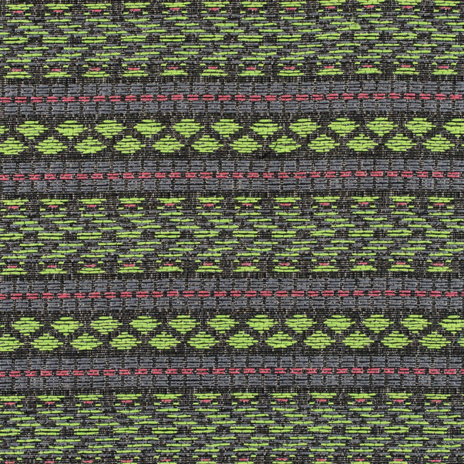 flourescent green and lady pink tribal jacquard 311133 11