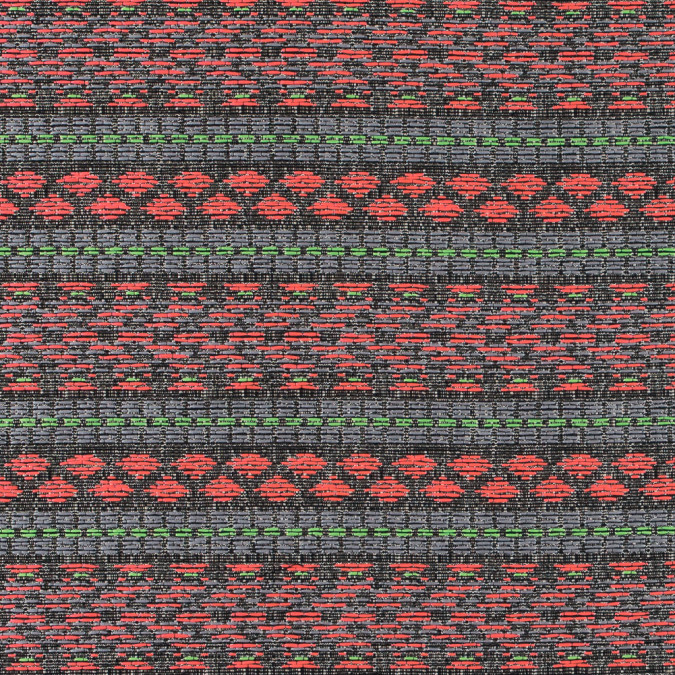 flourescent pink and lady green tribal jacquard 311132 11