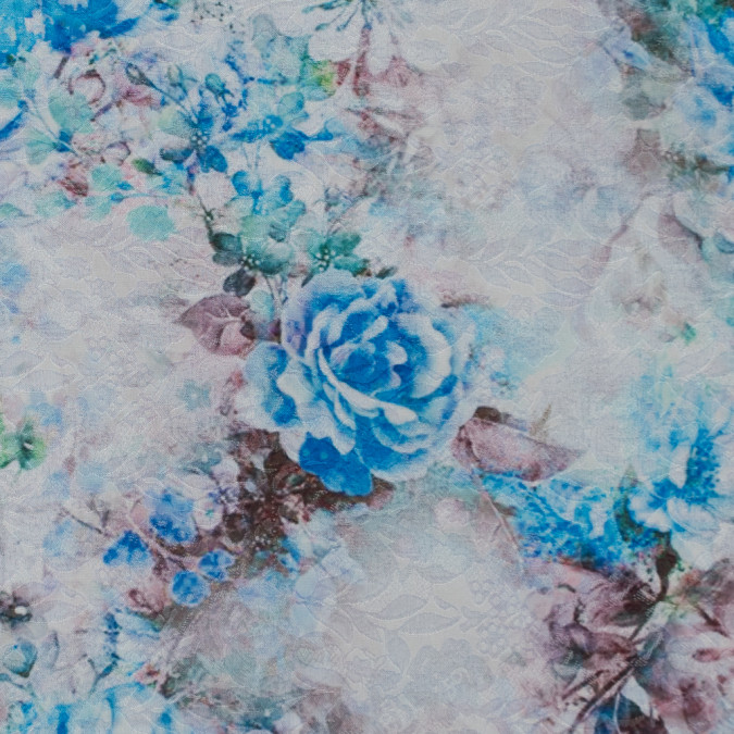 french blue and birch digitally printed floral jacquard 311075 11