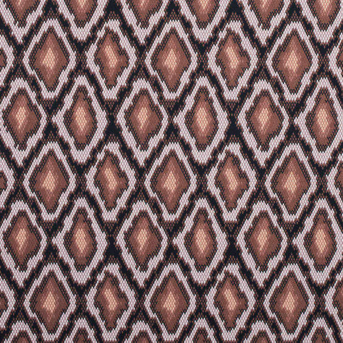 friar brown and pearl python printed stretch cotton sateen 117346 11
