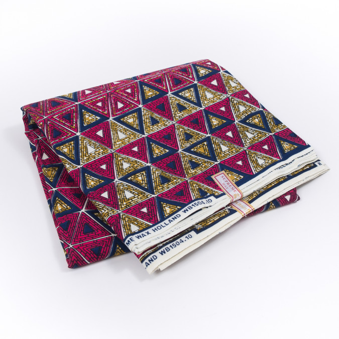 fuchsia estate blue and gold triangular waxed cotton african print 319499 11