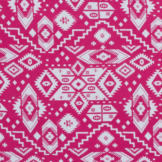 fuchsia and white tribal printed jersey 316454 11
