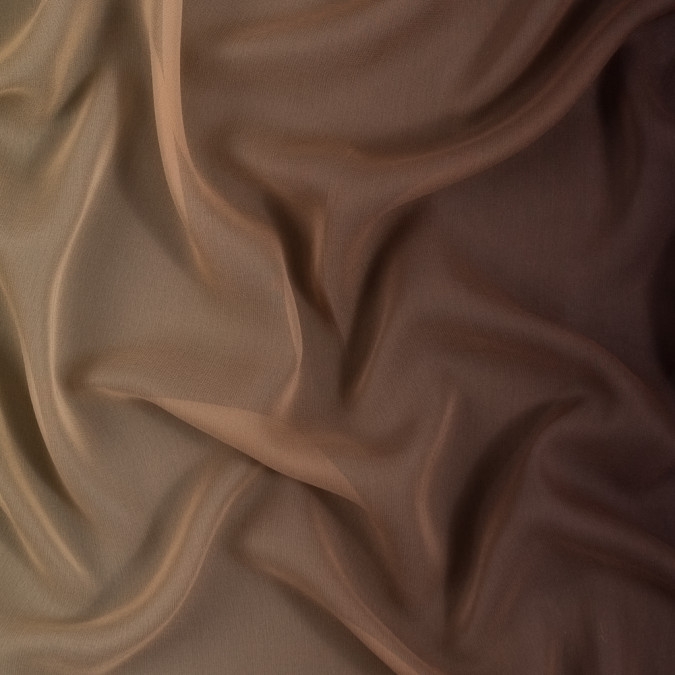 gold and brown ombre silk chiffon 314011 11