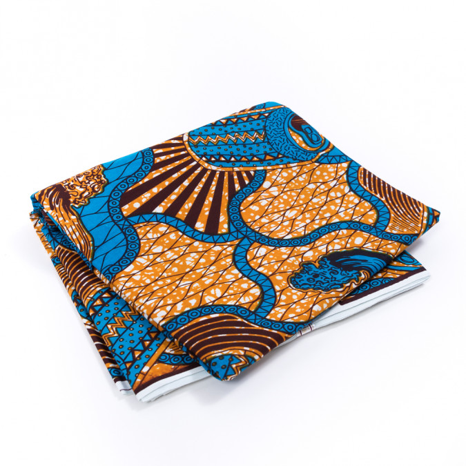 golden oak and blue soda can waxed cotton african print 317768 11