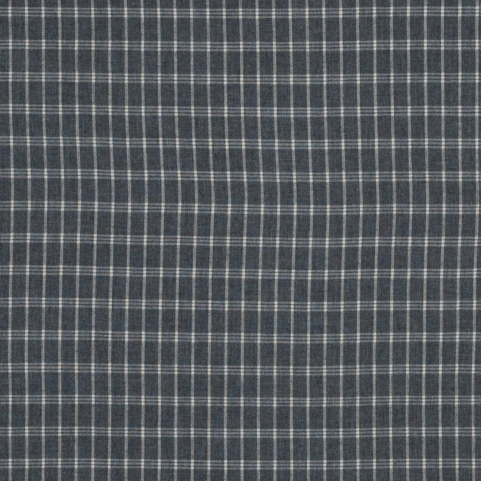 gray and beige plaid brushed japanese cotton shirting 318885 11