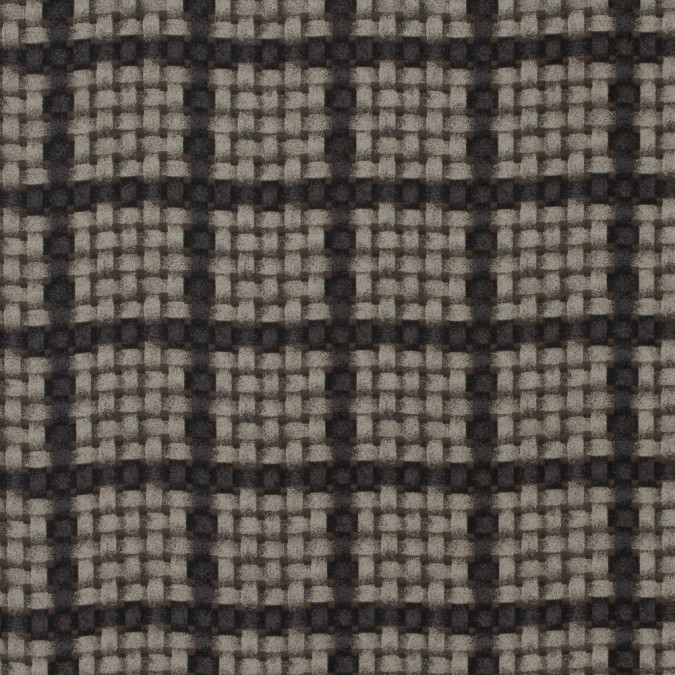 gray brown polyester chiffon w printed checkered basketweave 311634 11