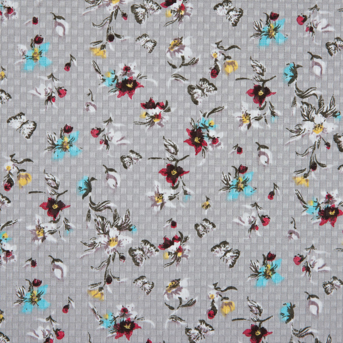 gray floral and butterfly printed dobby jacquard 310785 11
