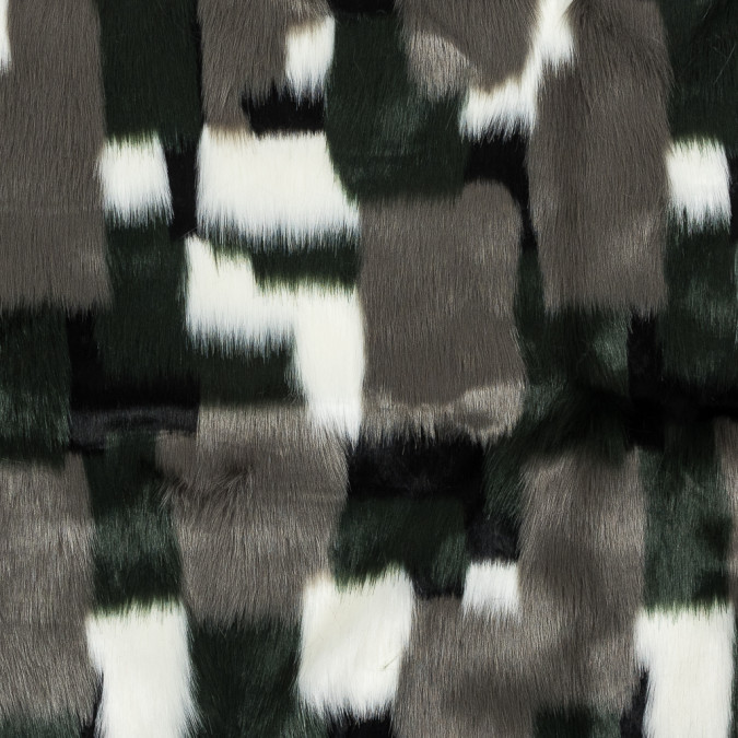 green and gray color blocked faux fur 317804 11