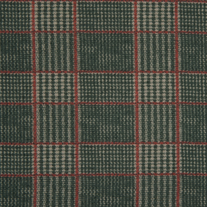 green red spotted plaid polyester chiffon 311702 11