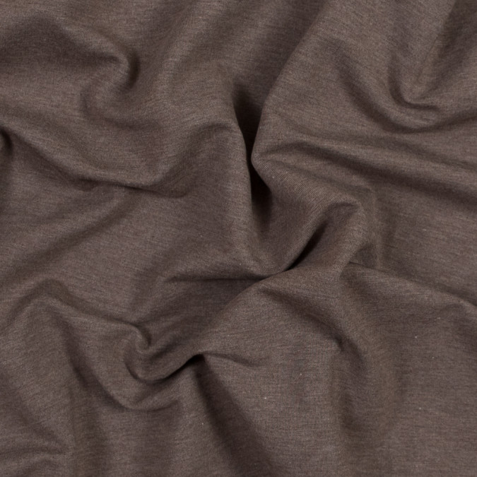 heathered chocolate bamboo and cotton stretch knit fleece 316118 11
