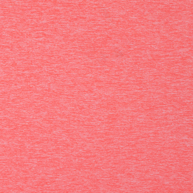 heathered neon orange stretch polyester jersey 312417 11