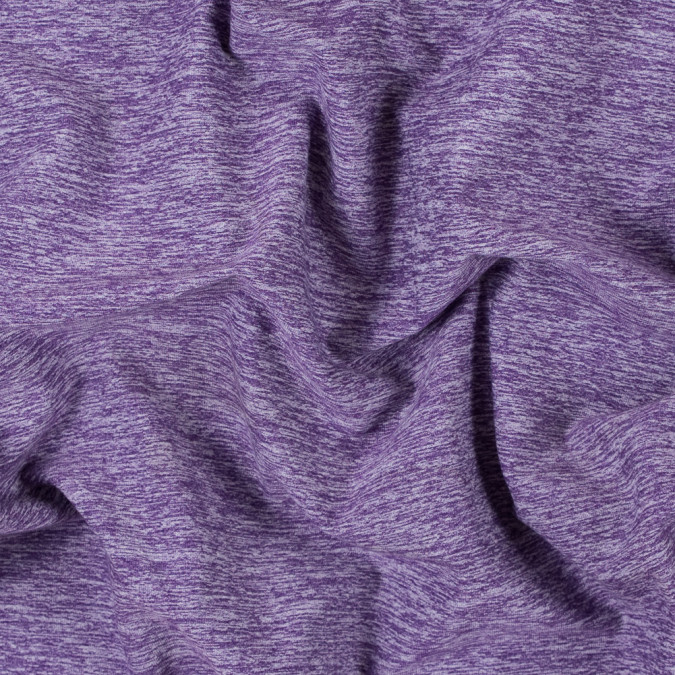 heathered purple stretch polyester jersey 312477 11