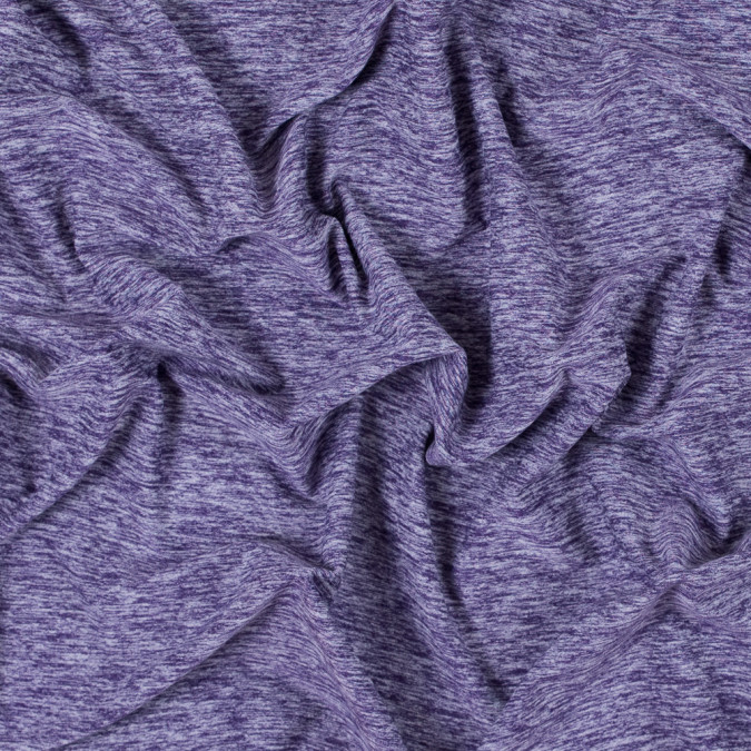 heathered violet stretch polyester jersey 312478 11