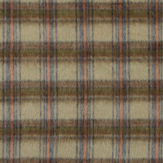 hemp green plaid brushed mohair blend 313402 11