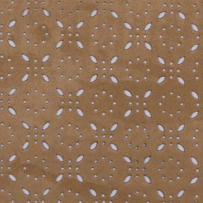 italian beige perforated faux suede 312079 11