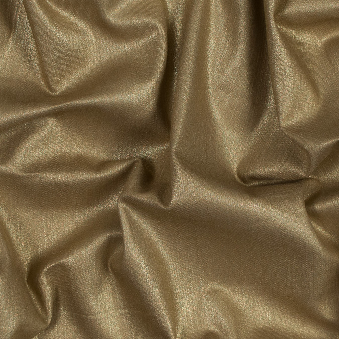 italian beige stretch denim with metallic gold laminate 316315 11