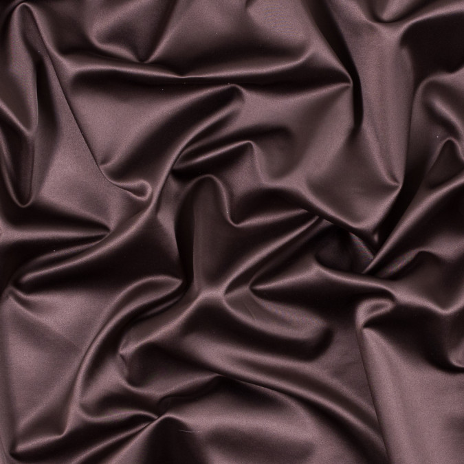 italian bitter chocolate stretch polyester charmeuse 312026 11