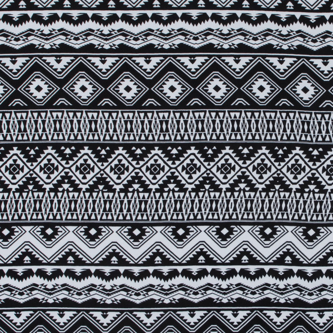 italian black and white tribal rayon challis 316796 11