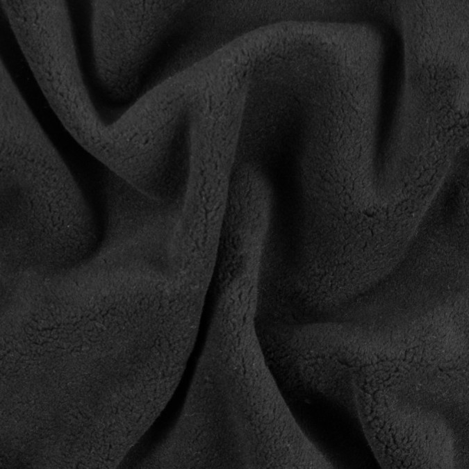 italian black fleece backed wool twill 312116 11