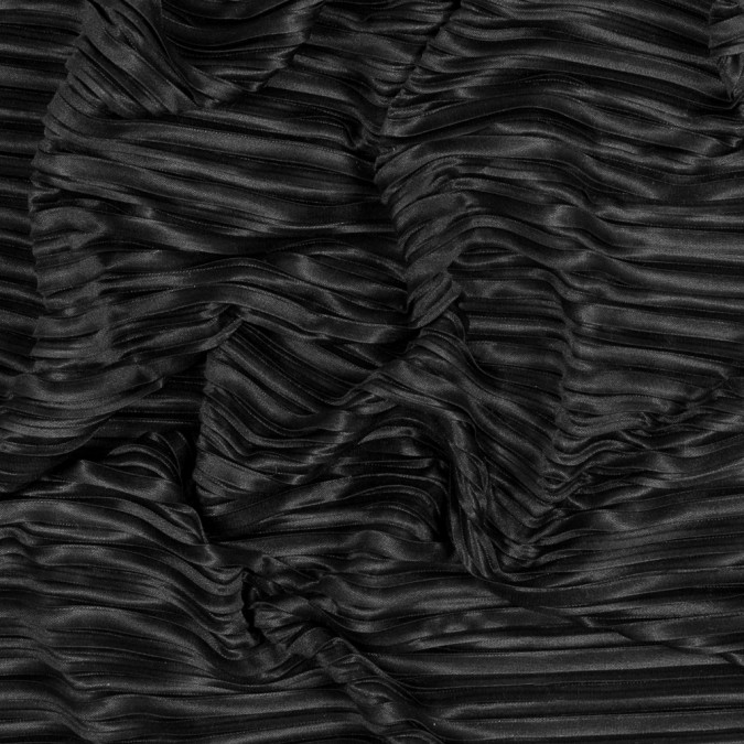 italian black pleated polyester woven 316311 11