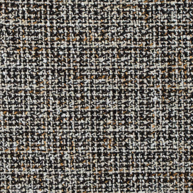 italian black white gold wool tweed 312240 11