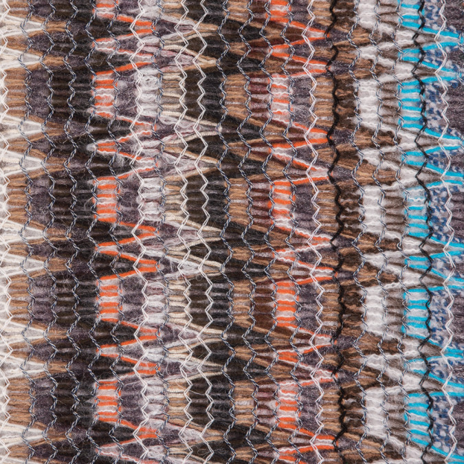 italian blue orange brown multicolor soft flamestitch wool knit 310474 11