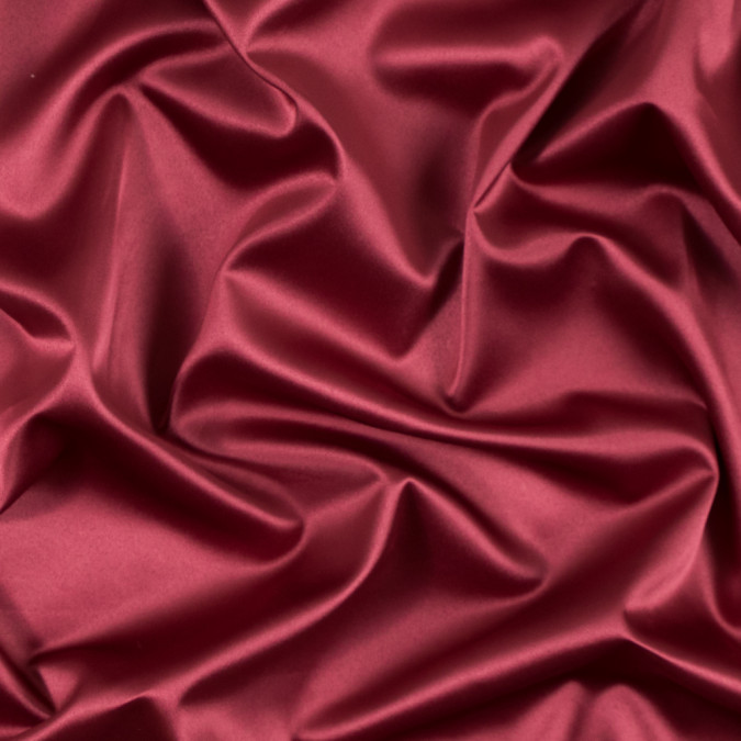 italian brick red stretch polyester charmeuse 312025 11