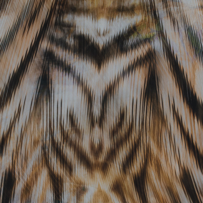 italian bronze mist and black abstract printed chiffon 316226 11