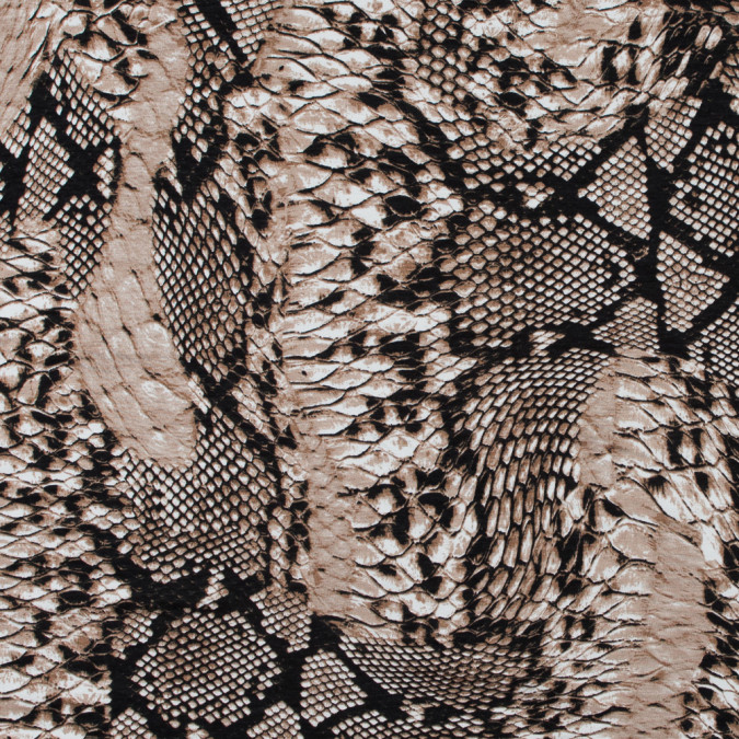 italian brown and black reptilian jersey print 316728 11