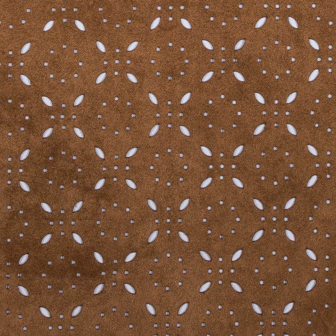 italian brown perforated faux suede 312263 11