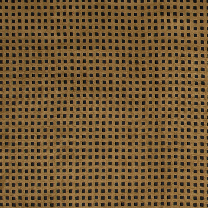 italian brown square perforated faux suede 316319 11
